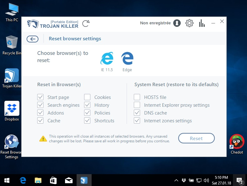 Svj9812e.exe Reset Settings