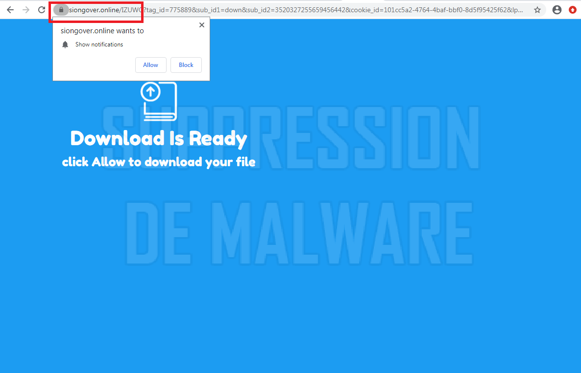 Siongover.online virus